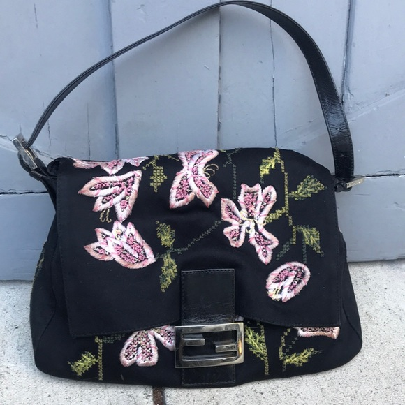 Fendi Embroidered Neoprene Bag
